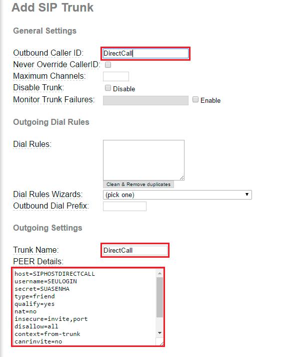 PABX IP TRIXBOX   Manual SIP, Nº GRÁTIS e minutos